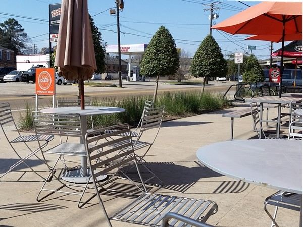 Enjoy a pretty day and eat outside at Rock N Sake