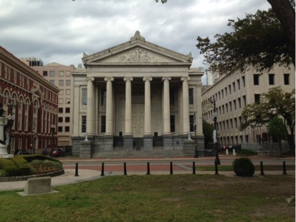 Gallier Hall in downtown NOLA