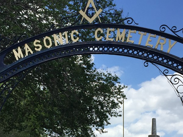 The historic Masonic Cemetery from 1865