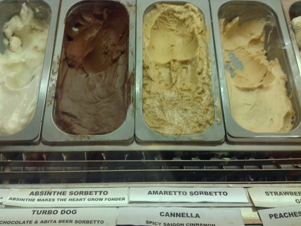 La Divina Gelato at 621 St. Peter Street, New Orleans in back of Jackson Square