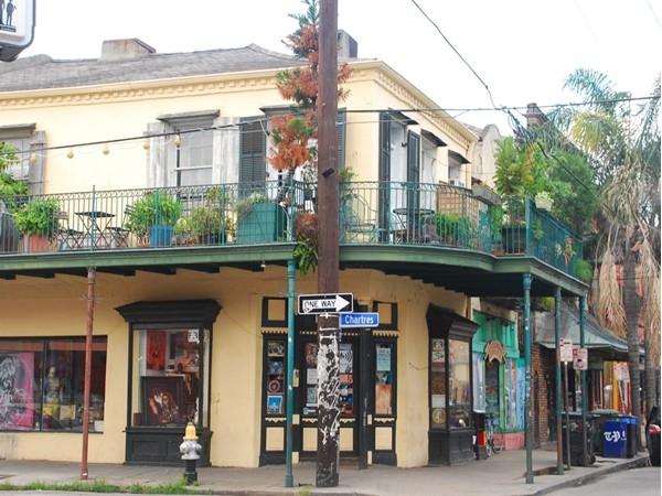 A quaint corner along Frenchmen