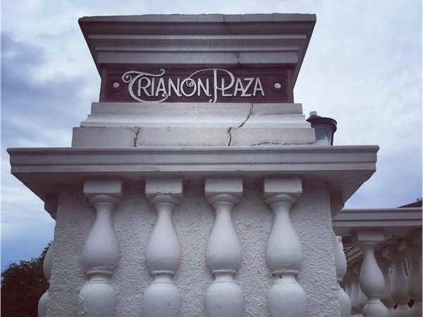 Trianon Plaza is a one block long road that predominantly features Spanish Revival homes