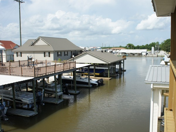 Another deck view showing the marina