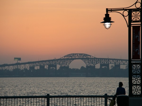 The I-10 Bridge is always a great backdrop for a beautiful Southwest Louisiana sunset!