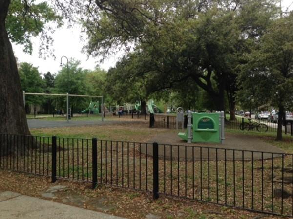 Danneel Park on St. Charles Avenue