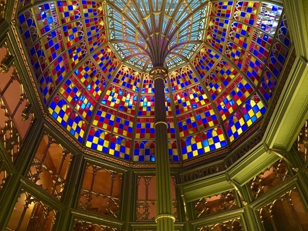 Look up! Take in the gorgeous ceiling at the Old State Capitol