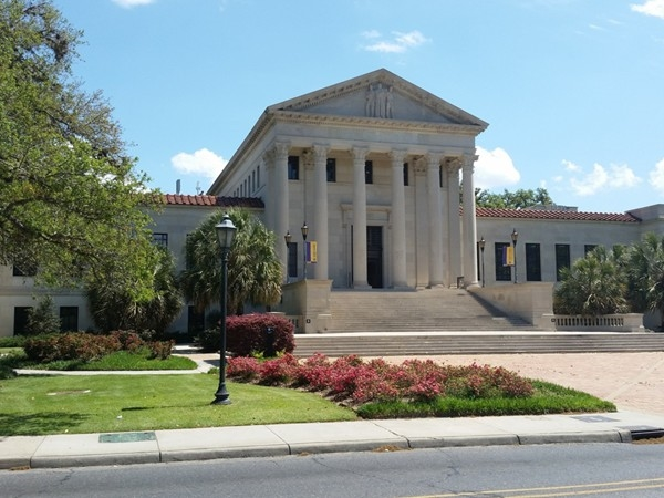 The LSU law building