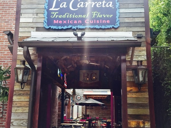 La Carretta in downtown Ponchatoula. Great location to eat outside and enjoy a jalapeno margarita