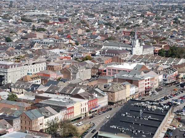 Amazing view of the French Quarter
