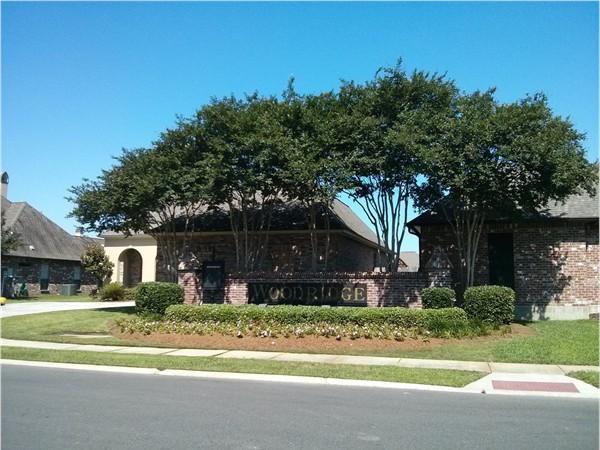 Woodridge subdivision entrance on Minou Ave