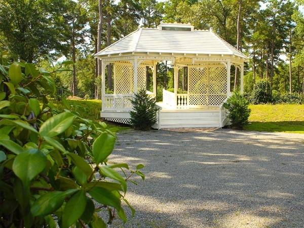 The wedding gazebo at Edgewood Plantation is a beautiful setting for that special day