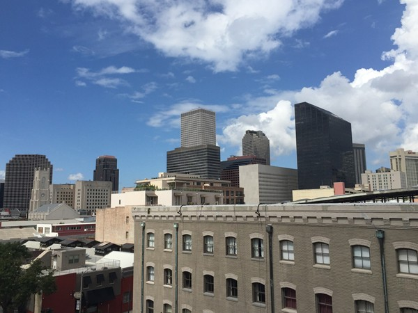 View of Central Business District from the top of The Rotunda in the Warehouse District