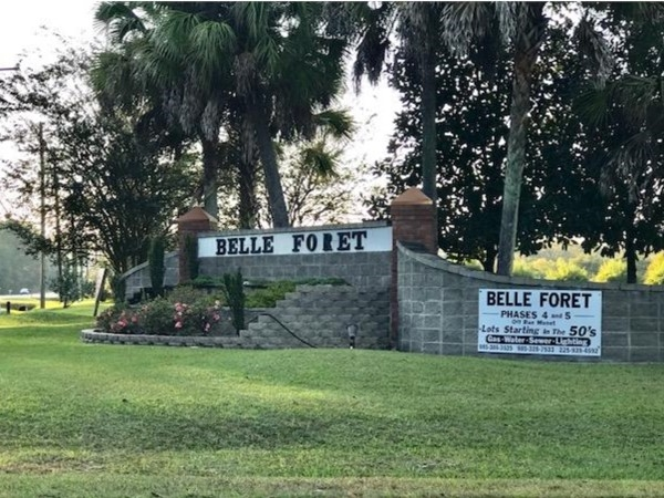 Belle Foret is an upscale subdivision located near interstate 55 and off of Hwy 22 in Ponchatoula
