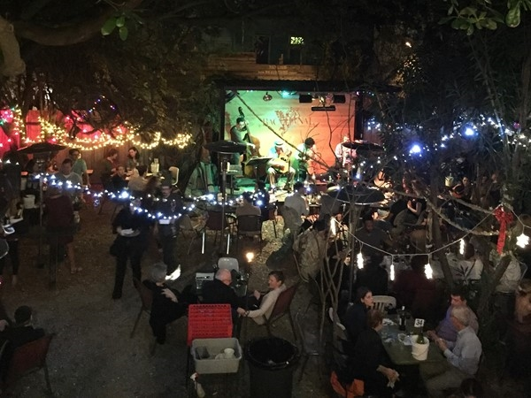 Bacchanal is a great wine bar/restaurant with an amazing courtyard and live music