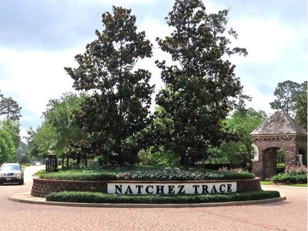 Gated entrance to Natchez Trace