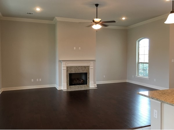 Living room in The Estates at Moss Bluff model home