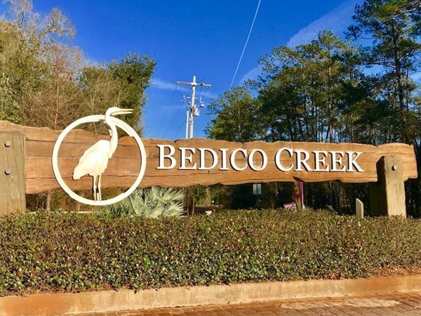 Gated preserve community of Bedico Creek