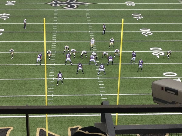 Mercedes-Benz Superdome - inside the dome for a Saints pre-season game
