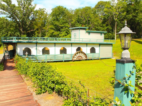"The steamboat pavilion, ""D'Arbonne Lady K"", at Edgewood Plantation is a great place for events"