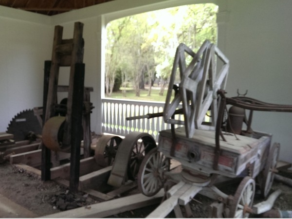 19th Century sawmill equipment at Fairview Riverside State Park