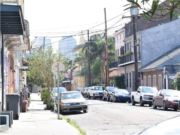 A view of Downtown New Orleans from the Marigny
