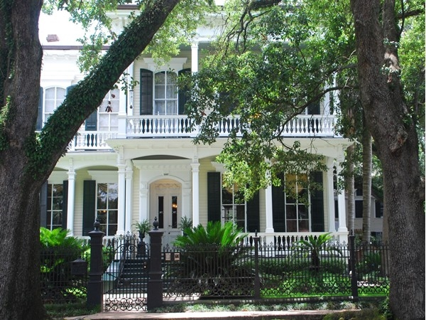 The Garden District features beautiful homes