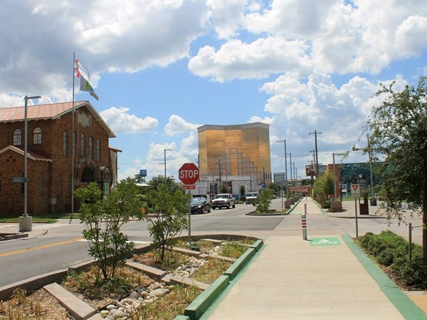 A beautiful day in Bossier's Downtown East Bank District