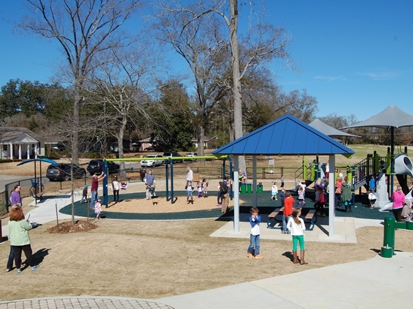 The Webb Park Playground is fun for all ages