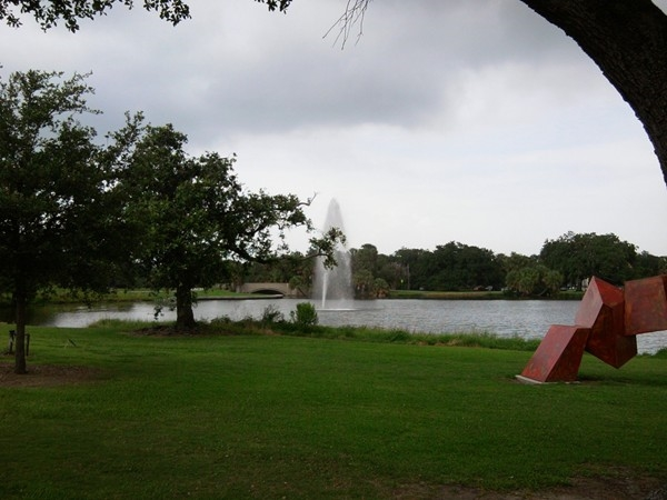 City Park has many lagoons for boating and fishing