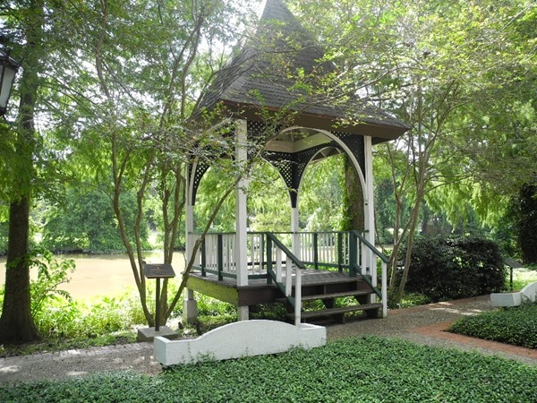 Gazebo overlooking the beautiful Bayou Teche