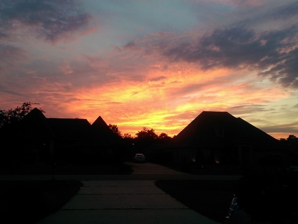 Nothing like a southern sunset in the heart of Madisonville