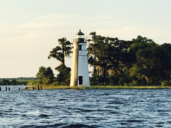 Lighthouse at the Techefuncte River in Madisonville