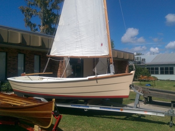 One of the classic sailboats on display at the Madisonville Wooden Boat Festival