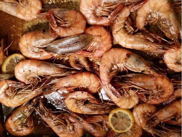 BBQ Shrimp dinner in Baton Rouge