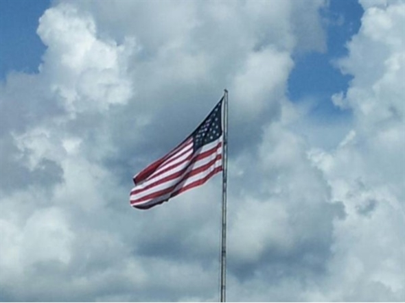 Stars and Stripes over Louisiana's Northshore