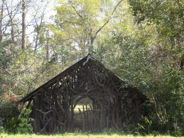 """The Twig House"" built from heart pine knots, a favorite Covington landmark"
