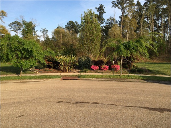 The beautiful gardens in Marigny Trace, with HOA managed by GNO Property Manageme