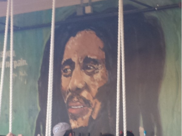 Painting of Bob Marley at the Rum House