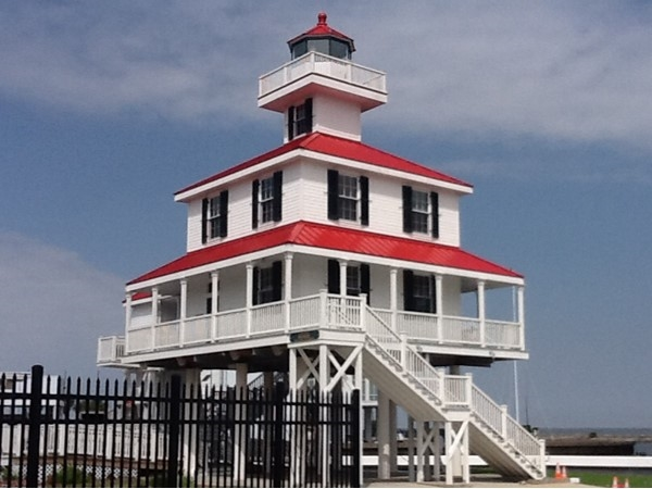 Lakefront lighthouse in the West End