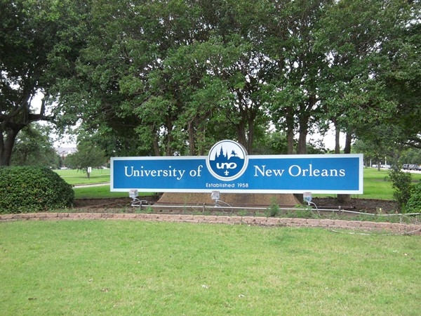 The sprawling University of New Orleans campus is located near the lakefront in Gentilly
