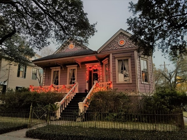 Beautiful gingerbread house in the Carrollton area of Uptown New Orleans