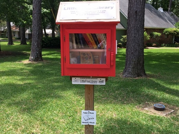 Free mini library in Beau Rivage subdivision