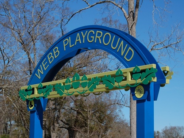 The Webb Park Playground is a wonderful public use space in Glenmore Place