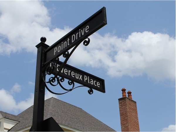 Ornate street signs are just one of the many luxury details that you'll find at Point Place