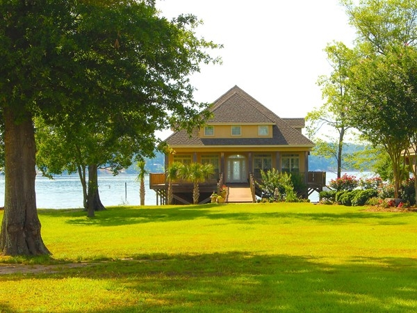 Luxurious boat houses like this one can be found at Dozier Creek on Lake D'Arbonne in Farmerville