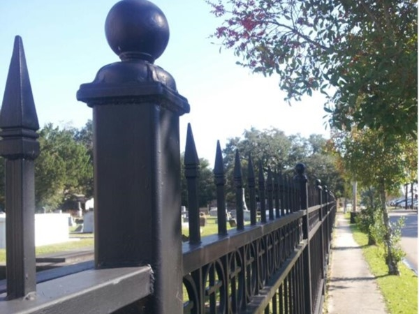 Cemetery fence in Old Covington