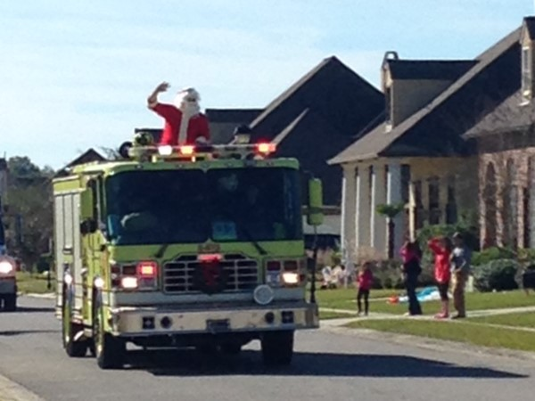 Santa visits Woodridge subdivision on a St.George Fire Department truck