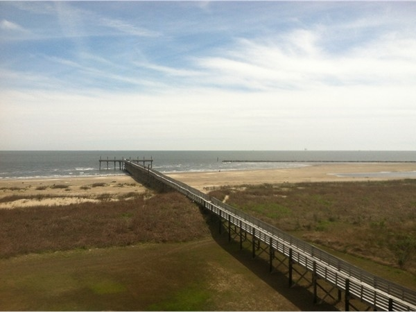 View from the Grand Isle State Park Observation Deck.