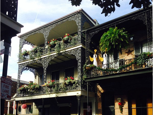 Two of the magnificent homes in the French Quarter