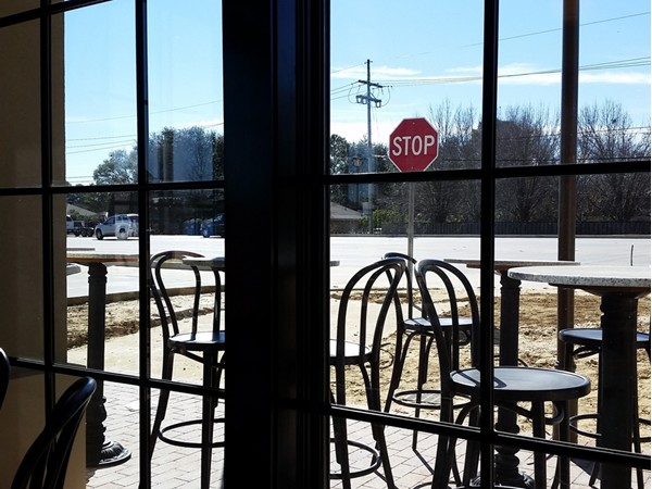Lots of outdoor seating at the new Bistro Byronz in The Settlement at Willow Grove